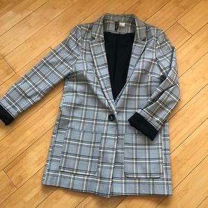h&m checked blazer